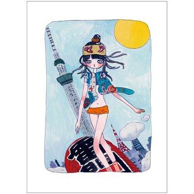 高野綾(Aya Takano)she's coming, riding the Kaminari-mon lantern