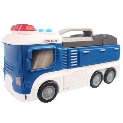警察車造型立體停車場 燈光 音效501...
