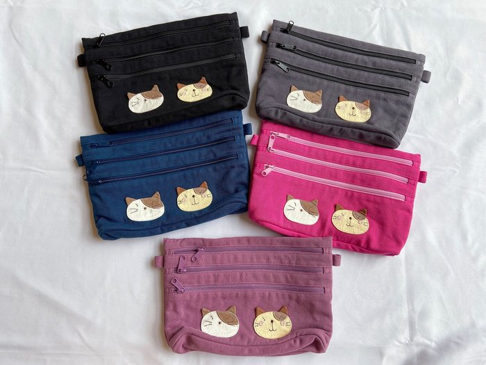 日本卡拉貓~GonPon醬4拉鍊萬用包 收納包 小包