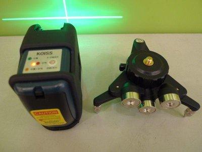 ☆捷成儀器☆韓國製koiss KL110G雷射水平儀綠光雷射儀 超強綠光可做外牆磁磚模板戶外專用