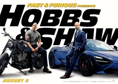 (電影海報) 玩命關頭 特別行動 傑森史塔森 巨石強森 賽車 哈蒂蕭 哈伯 依恩蕭 M夫人