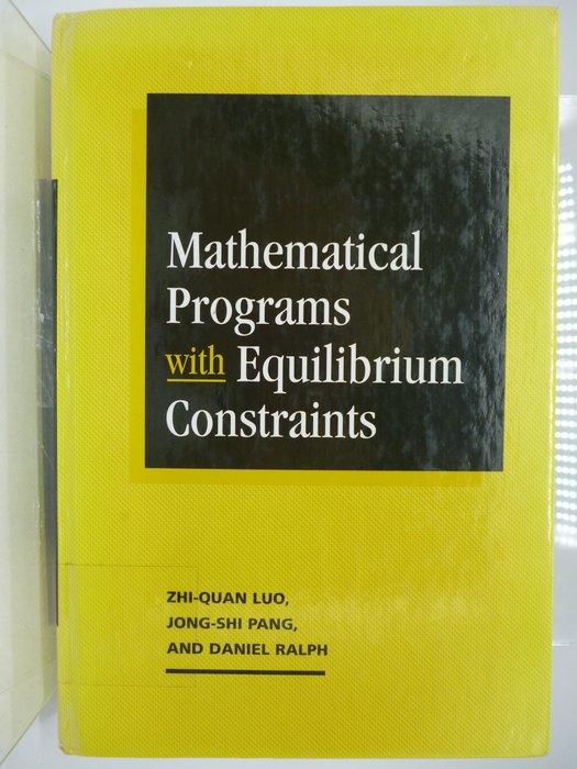 Mathematical Programs With Equilibrium Constraints〖大學理工醫〗AGM