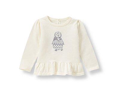 二手正品---美國 JANIE AND JACK  象牙白 企鵝針織毛衣 --- 8Y