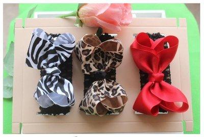 ☆草莓花園☆女童髮帶 時尚可愛花朵蝴蝶結頭飾 百搭款 4花色  附精美外盒