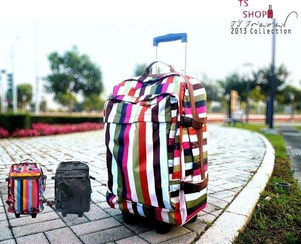 登機箱*TS* TROLLEY 輕型旅行箱.軟式小行李箱 隨身包 拉桿旅行袋 可壓扁