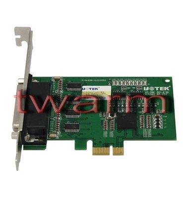 《德源科技》r)UT-784 4口RS232 PCI-E高速多串口卡