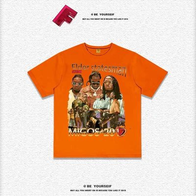 【Result】Migos-2019 hiphop classic Tee 經典傳奇饒舌團體