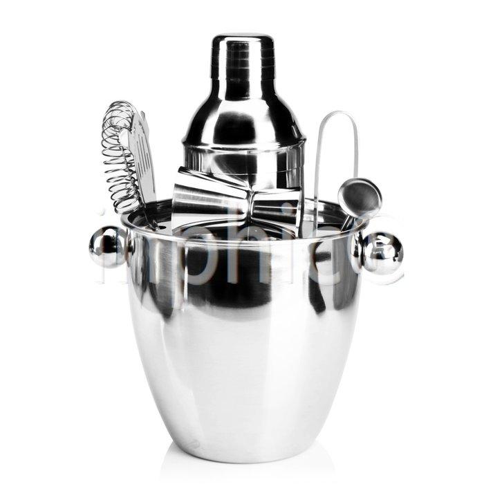 INPHIC-出口德國350ml不鏽鋼調酒器冰桶7件套套裝調酒用具雪克杯