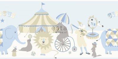 【Uluru】歐洲期貨壁紙.童趣 border circus (2色) 馬戲團 動物 大象 兒童房 壁紙 HE109系列