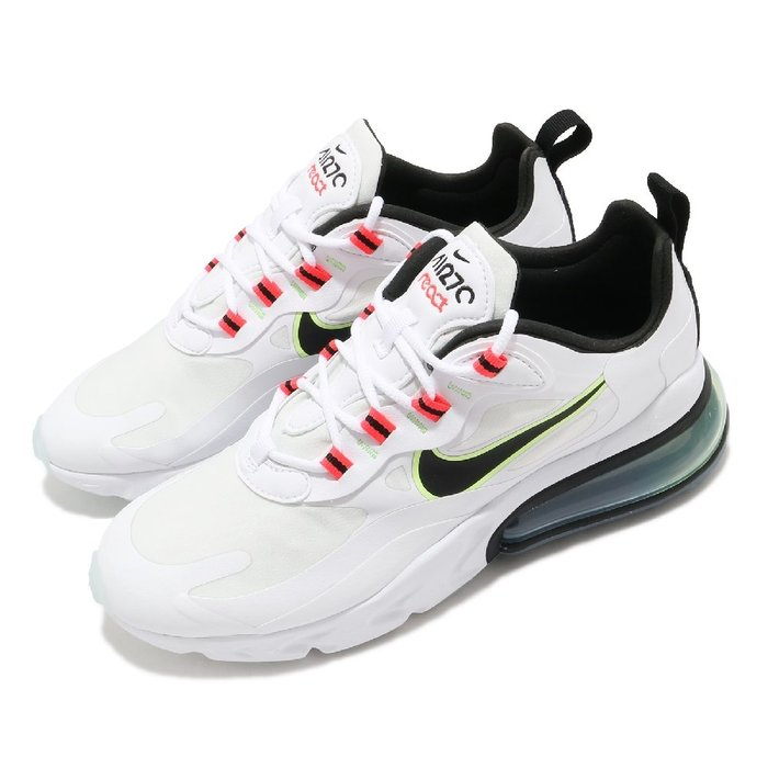 =CodE= NIKE W AIR MAX 270 REACT 網布慢跑鞋(白黑綠橘) CZ6685-100 氣墊 女
