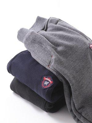 小可愛@紅豆居家兒童加絨加厚運動單條褲紅豆中大童學生冬季休閑保暖褲