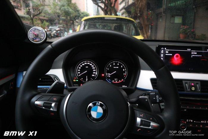 【精宇科技】Top Gauge BMW X1(F48) 18i 專用A柱多功能 渦輪錶 排溫錶 水溫錶 電壓錶 四合一