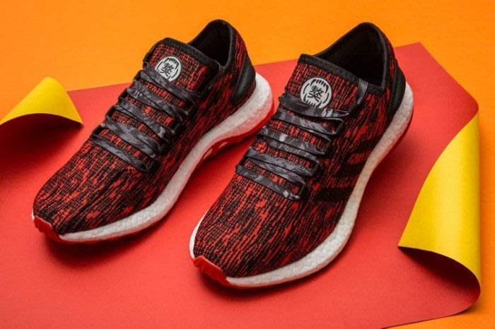 998296f4b6338 adidas Pure Boost Chinese New Year CNY CP9327 紅色獒犬慢跑鞋男款 ...