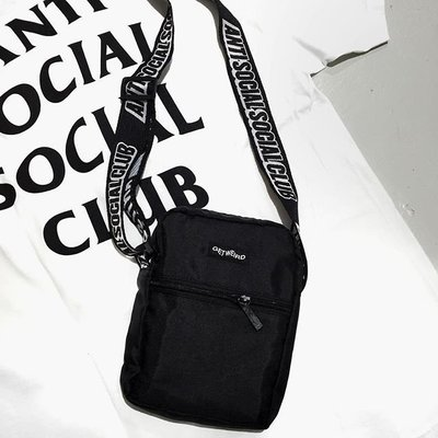☆LimeLight☆ Anti Social Social Club ASSC Side Bag 肩包 小包 黑/白