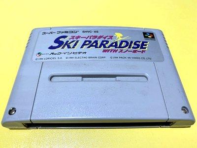 幸運小兔 SFC遊戲 SFC 滑雪天堂 Ski Paradise 超級任天堂 超任 任天堂 E8