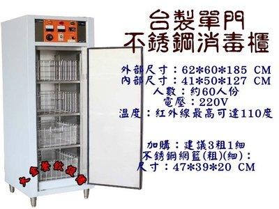 大金餐飲設備~~~全新雙門高溫消毒櫃/營業用烘碗機/不銹鋼消毒櫃/60人份高溫消毒櫃/餐具消毒櫃