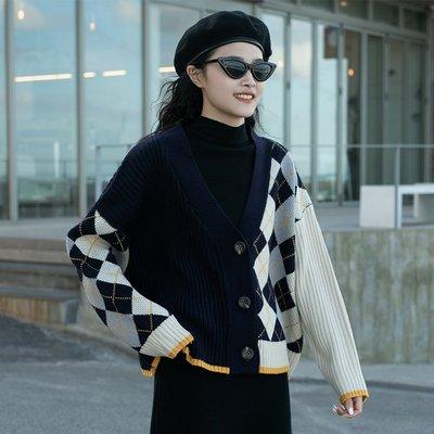 覓定針織開衫外套女秋季上衣毛衣寬松外穿秋冬2020年新款爆款秋裝