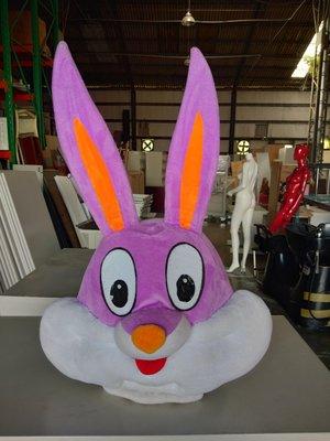 桃園國際二手貨中心---兔寶寶造型頭套 活動 派對 動物造型頭套  萬聖節聖誕節 動物頭套