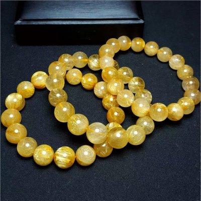 (共兩款)天然巴西金髮晶,彼得石單圈水晶手鍊(珠約8mm)