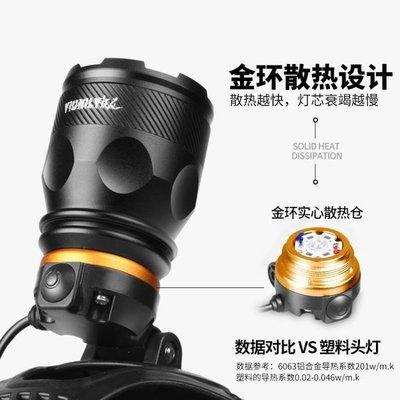 頭頂燈銳尼led頭燈強光可充電式超亮3000頭戴式燈夜釣釣魚燈米打獵礦燈DF