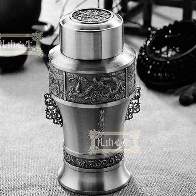 5Cgo 【批發】含稅會員有優惠 14546311782 大馬錫器錫罐鐵盒茶具茶葉罐大號 龍紋商務創意實用禮品節日禮物