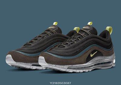 2020 12月 NIKE Air Max 97 Newsprint 彩虹 彩色 黑色咖啡藍色 Db4611-001 休閒慢跑鞋