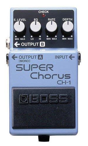 【六絃樂器】全新 Boss CH-1 Super Chorus 超級和聲效果器 / 現貨特價