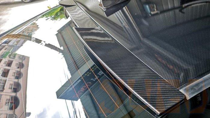 SUGO汽車精品 本田HONDA CIVIC 8/8.5代/喜美八代 專用黑碳卡夢水轉印 貓耳後遮陽