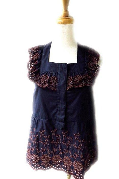 *Beauty*SEE BY CHLOE深藍色蕾絲刺繡背心 34號 6900元PH