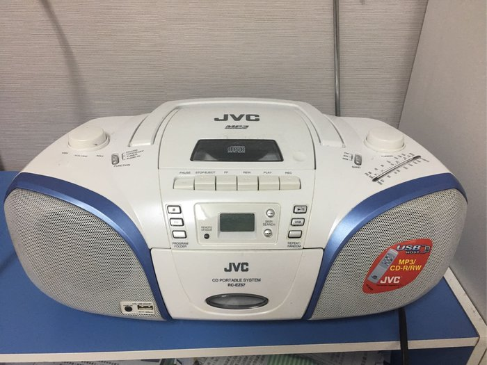 。☆二手☆。JVC手提CD音響RC-EZ57//CD/TAPE/USB/RADIO//搖控//台南自取