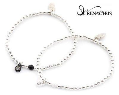 BHI1079-法國品牌RenaChris 施華洛世奇晶鑽珠子手環 手鍊【韓國製】