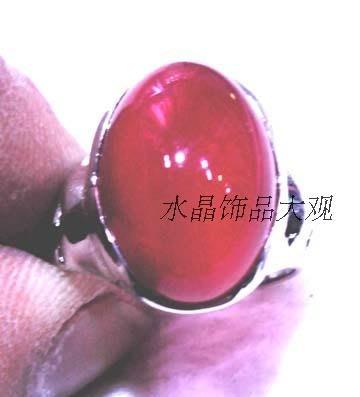 藏玉閣天然紅玉髓戒指 戒面為橢圓形 長約21mm*寬約12mm 指環是固定口