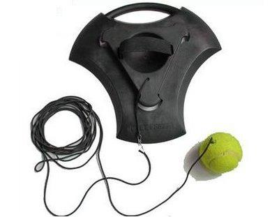 【專業網球訓練器底座-橡膠-30*30*3cm-1套/組】 網球練習器 網球陪練器 單人網球-56007