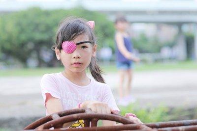 弱視眼罩(2入及1收納袋) 兒童單眼罩 台灣手工製造 純棉布材質 協助校正弱視 斜視