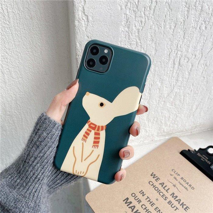 S/XR手機殼iPhone7p/8plus女潮 iPhone7/i8)墨綠 圍巾兔子IMDi8Plus手機殼200402