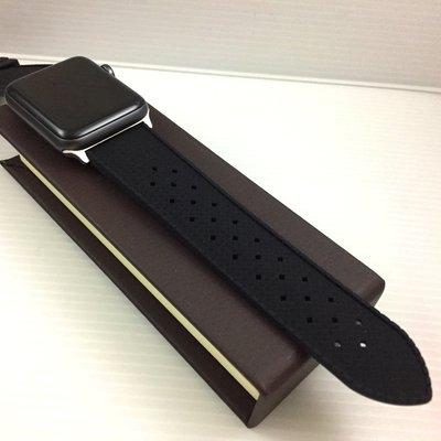 Apple Watch 代用 專用  矽膠  質軟好戴  黑色 錶帶 42mm 44mm 專用