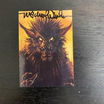 1995 美國藝術家 Michael Whelan 親筆簽名 收藏卡 卡片