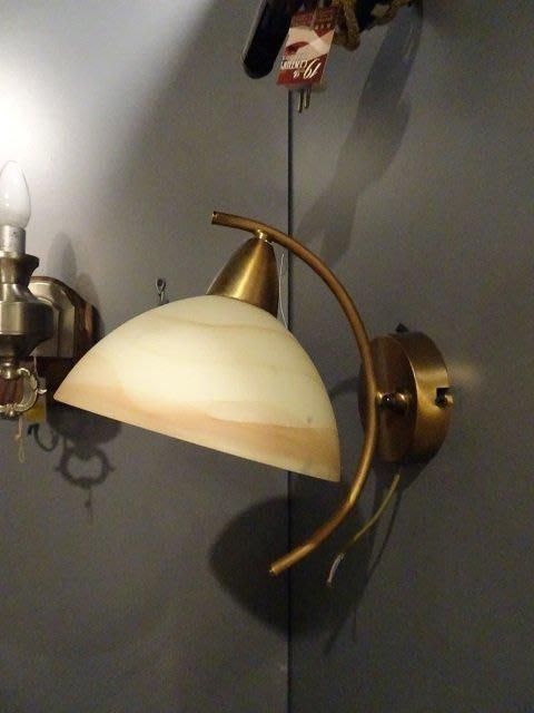 【卡卡頌 OMG歐洲跳蚤市場 / 西洋古董 】歐洲古董半月燈罩銅壁燈 1a0061✬