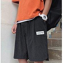 休閒短褲男士夏季中褲潮牌褲子港風寬鬆沙灘褲學生五分褲潮流馬褲