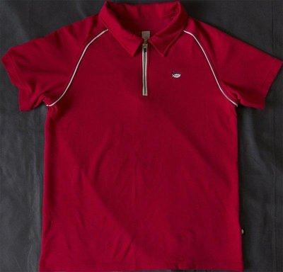 Lacheln雷迅戶外機能排汗透氣半拉鍊短袖POLO衫 XL號 T-D51