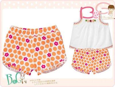 【B& G童裝】正品美國進口GYMBOREE Floral Ruffle Short 花朵點點橘色短褲3,5yrs