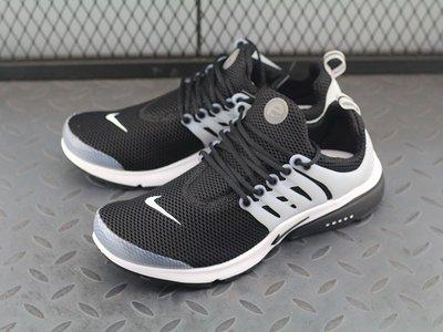 Nike Air Presto Blackout 白膠黑 魚骨 透氣網面 休閒慢跑鞋848132-010