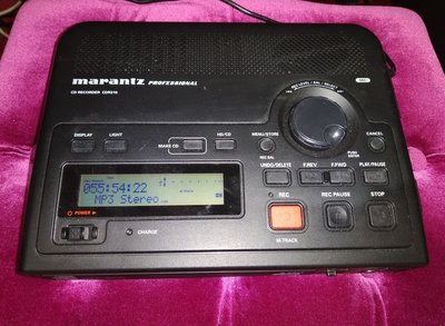 日本馬蘭士記者專業級 Marantz Professional Portable CD burner手提CD 燒錄機 XLR 平衡輸入