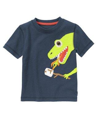 Maple麋鹿小舖 美國購買童裝品牌 GYMBOREE 男童圖案短T * ( 現貨3T )