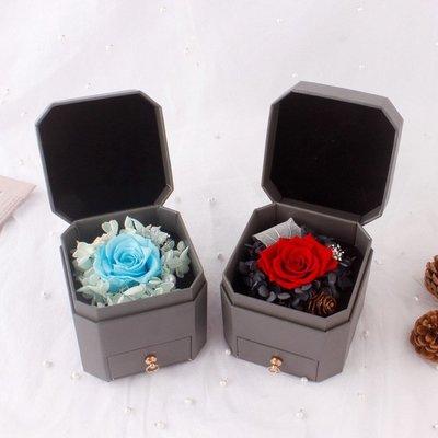 玫瑰永生花項鏈禮盒七夕情人節創意禮物送女友閨蜜生日禮物包裝盒#禮品盒#包裝盒#創意#禮物盒