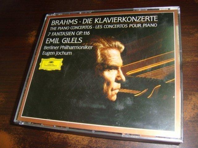 好音悅 全銀圈 Gilels 吉利爾斯 Brahms 布拉姆斯 鋼琴協奏曲 幻想曲 Jochum BPO 2CD DG