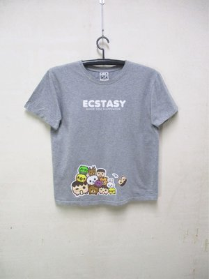 【NO.88】男-二手潮牌專櫃ECSTASY個性插圖短袖T! 不議價提前結標!標多少算多少!