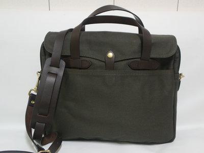 【G.Vintage】複刻 FILSON 256 軍綠色重磅帆布/公事包/ 側背包/ 筆電包(現貨含運)