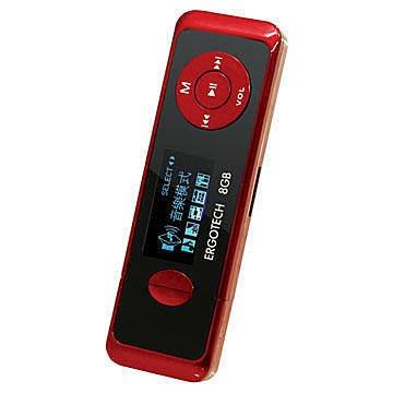 平廣 人因 Ergotech UL432 黑紅色 8G 8Gb MP3 隨身聽 保固一年 紅色 優 創見MP330