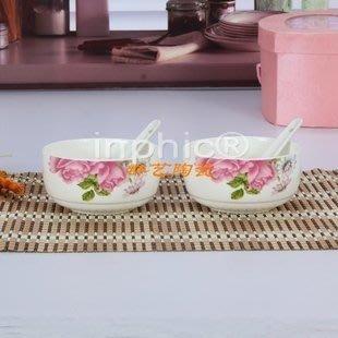 保鮮碗附勺子密封骨瓷爐冰箱便當陶瓷保溫餐具飯盒泡【6組】